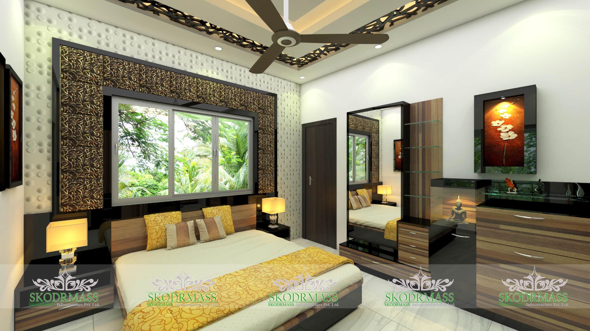Interior design decoration interior designers in delhi for Bedroom designs kolkata